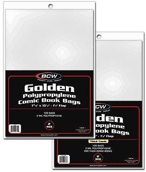 BCW 1000ct (Case) Golden Comic Bags