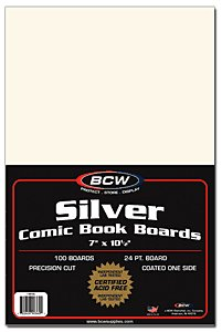 BCW 1000ct (Case) Silver Comic Boards