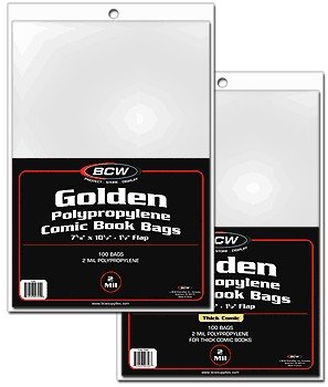 (1000) BCW Golden Comic Bags & Boards