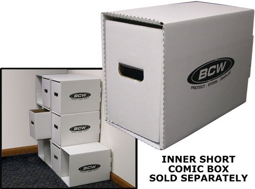 BCW (10) Stackable Long Comic Storage Box Houses