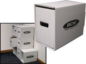 BCW (10) Stackable Short Comic Storage Box Houses & Boxes Drawers