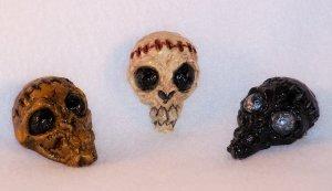 Zombie Skull Pin