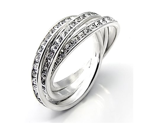 CUBIC ZIRCONIA CZ ETERNITY ROLLING RING SIZE 5 9 or 10