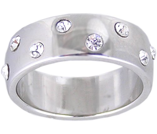 CLEAR CRYSTAL ETERNITY FASHION RING SIZE 6 7 or 8