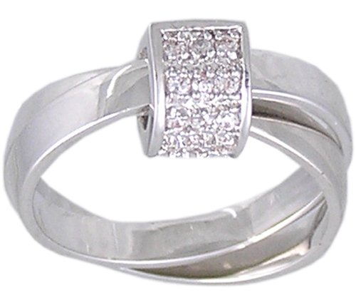 CLEAR CUBIC ZIRCONIA CZ FASHION RING SIZE 5 6 8 9 or 10