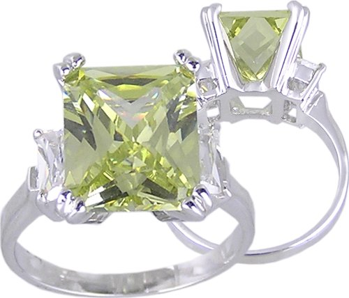 YELLOW CUBIC ZIRCONIA FASHION RING SIZE 5 6 8 9 or 10
