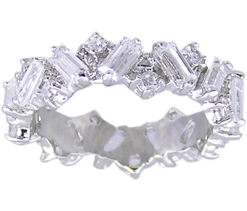 CLEAR CUBIC ZIRCONIA ETERNITY RING SIZE 6 7 8 9 10