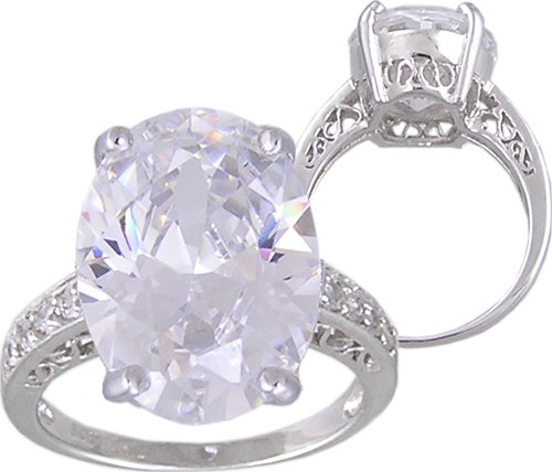 CZ CUBIC ZIRCONIA STERLING SILVER RING SIZE 6 7 8 or 9