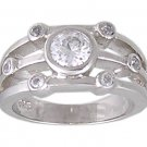 CZ CUBIC ZIRCONIA SILVER FASHION RING SIZE 6 7 or 9