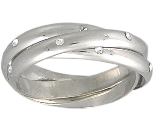 CUBIC ZIRCONIA CZ ROLLING RING SIZE 5 6 7 8 9 10 or 11