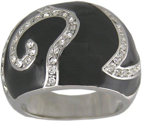 BLACK CUBIC ZIRCONIA CZ RING SIZE 7 8 or 9 JEWELRY
