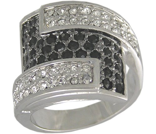 BLACK CUBIC ZIRCONIA CZ RING SIZE 5 6 7 8 9 10 JEWELRY
