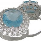 BLUE CUBIC ZIRCONIA CZ RING SIZE 5 6 7 8 9 & 10 JEWELRY