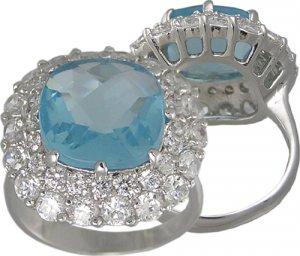BLUE CUBIC ZIRCONIA CZ RING SIZE 5 6 7 8 9 & 10 JEWELRY