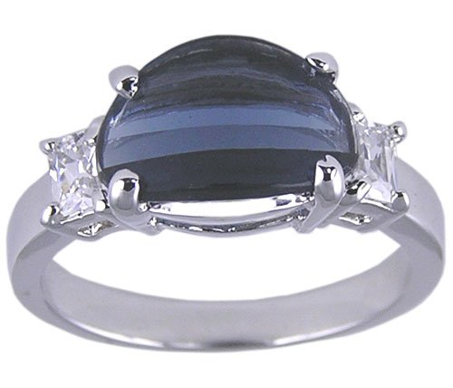 BLUE CUBIC ZIRCONIA CZ RING SIZE 5 6 7 or 8 JEWELRY