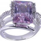 PURPLE CUBIC ZIRCONIA CZ RING SIZE 5 6 or 7 JEWELRY