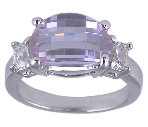 PURPLE CUBIC ZIRCONIA CZ RING SIZE 5 6 7 8 or 9