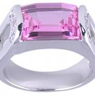 PINK CUBIC ZIRCONIA CZ RING SIZE 5 FASHION JEWELRY