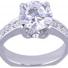ROUND CUBIC ZIRCONIA CZ RING SIZE PROMISE 5 6 or 7