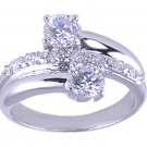 CLEAR CUBIC ZIRCONIA CZ RING SIZE 7 FASHION JEWELRY