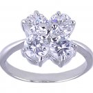 CLEAR CUBIC ZIRCONIA CZ RING SIZE 7 JEWELRY