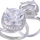 PAVE CUSHION CUT CUBIC ZIRCONIA CZ RING SIZE 5 6 7 or 9