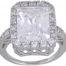 CUBIC ZIRCONIA CZ .925 STERLING SILVER RING SIZE 7 or 9