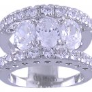 CLEAR CUBIC ZIRCONIA CZ FASHION RING SIZE 7