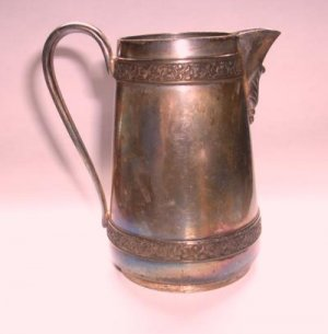 Antique Silver Middletown Plate Co Quad Plate Creamer!