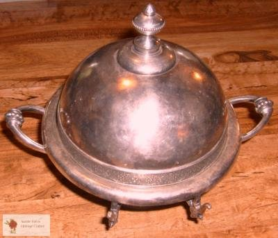 Wilcox Silverplate Co Antique Butter Dish Cheese Keep!