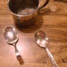 Childrens Armor Silver Cup and Oneida Spoons! Antique!