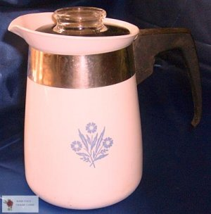 Cornflower Blue 4C Corelle Ware coffee/tea Pot