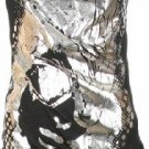Black Print Cowl Neck Tunic Top Large