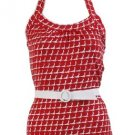 Jane Red Halter Top Large