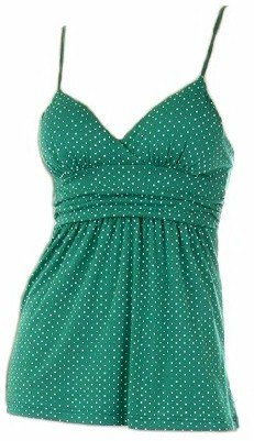 Tami Green Polka Dot Top Large
