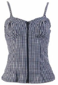 America Blue Corset Top Large