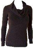 Brown Cowl Neck Sweater Top Medium