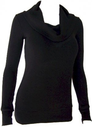 Black Cowl Neck Sweater Top Medium
