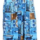 Blue Print Smocked Maxi Halter Dress Women's Juniors Plus Size Medium