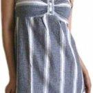 Blue Mini Halter Dress Large