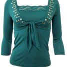 Trendy Green 2pc Bolero Top Set Large