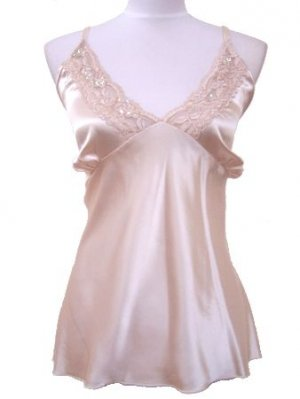 Beige Satin Lace Clear Sequin Top 2XL Women's Juniors Plus Size