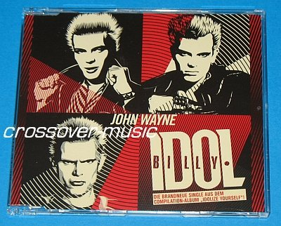 BILLY IDOL John Wayne 4TR CD SINGLE 2008 Cradle of Love