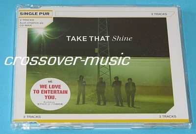 TAKE THAT Shine GERMAN 2-TRK CD w/ We Love To Entertain You