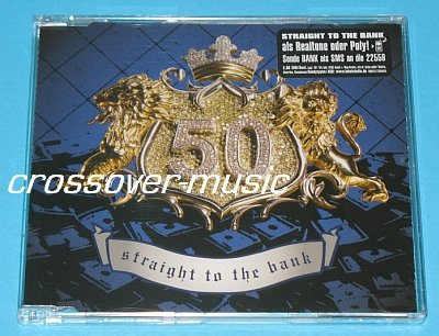 50 CENT Straight To The Bank GER 4-TRK CD 2007 w/video