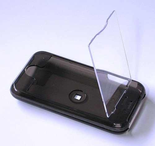 iphone Hard Crystal Clear Case with Cover (Black) + Belt Clip