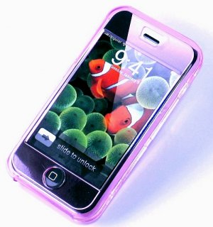 iphone ipod Touch  Hard Crystal Clear Case (Pink) + Belt Clip
