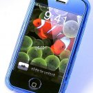 Iphone ipod Touch  Hard Crystal Clear Case (Blue) + Belt Clip