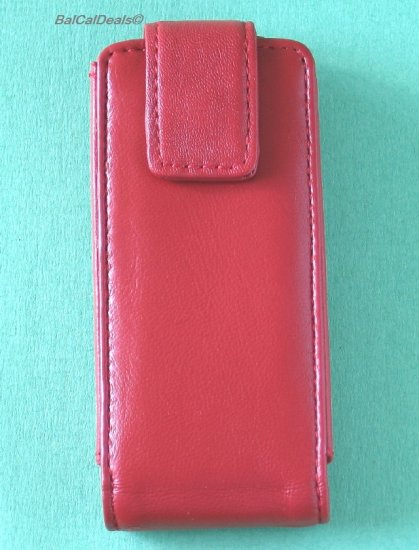 I pod Apple iPod Nano Leather Case Skin (Red)