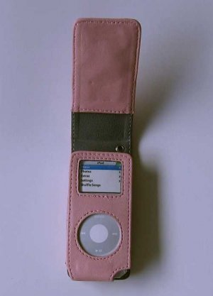 ipod Accessories Stylish Leather Flip Case Protection for ipod Nano